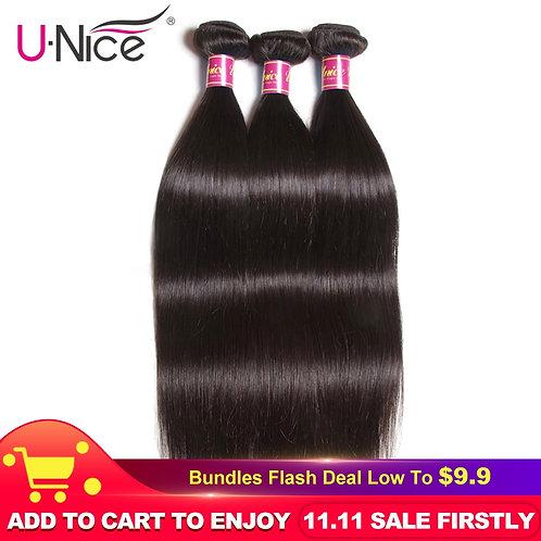 UNICE HAIR Brazilian Straight Hair Bundles Natural Color 100%