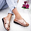 Thumbnail: Puimentiua Women Slippers Flat Sole Casual Soft Big Toe Foot