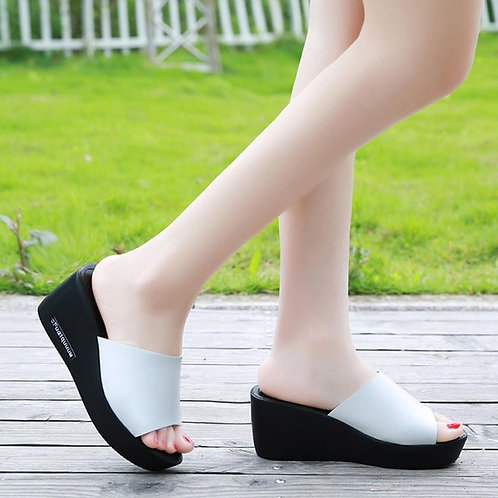 Summer Beach Sandals High Heel Shoes Casual Women