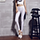 Thumbnail: Women Solid Color Pant Leggings Large Shinny Elasticity Casual Trousers for Girl