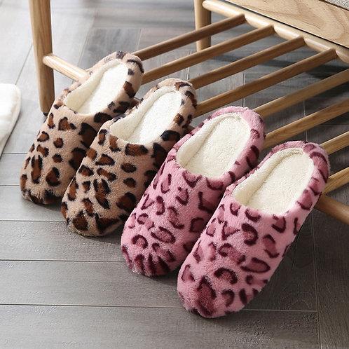 Soft Bottom Home Slippers Women Leopard Print Indoor Floor