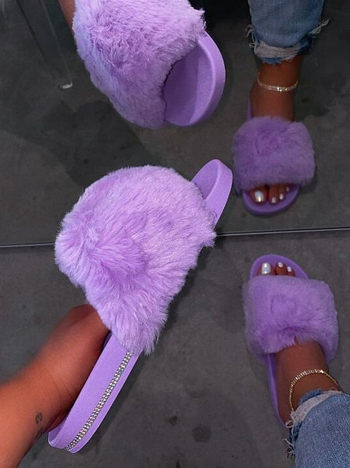 Dihope New Fur Women Slippers Shoes 2020 Ladies Slippers