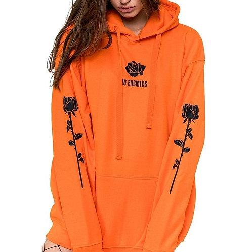Sweatshirt Rose Print Hoodie Plus Size Hoodies Women