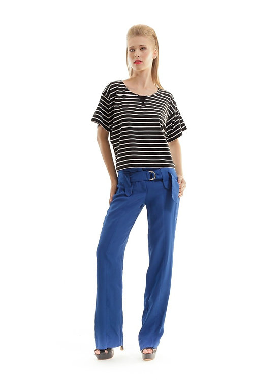 Seamed Pants With Belt
