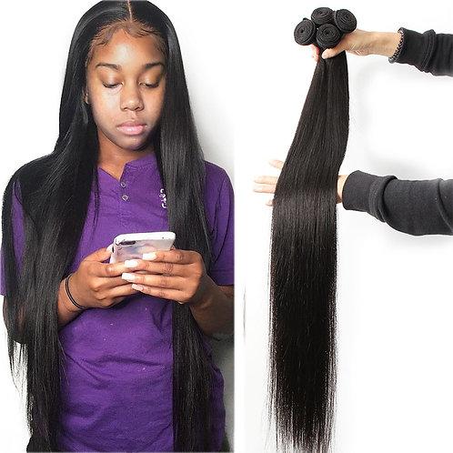 Fashow 30 32 34 36 40 Inch Indian Hair Straight Hair Bundles