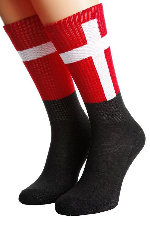 DENMARK flag socks for men and women