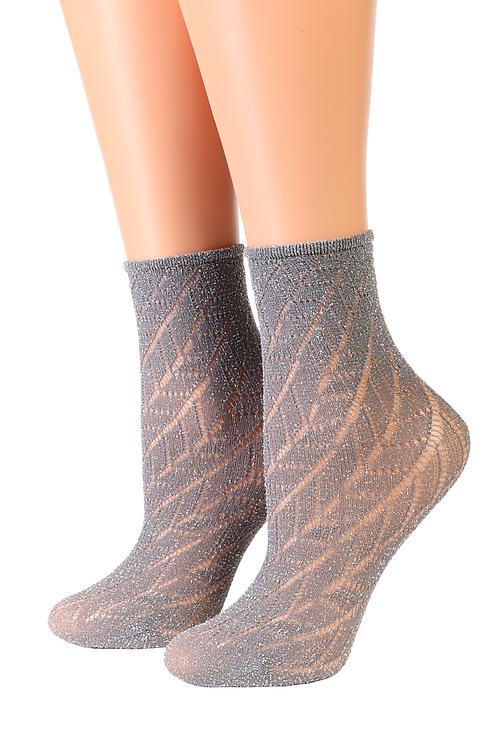 Oroblu METAL grey sparkling socks