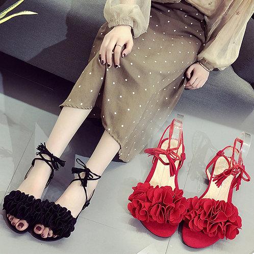 Fashion Women Tassel Flowers Flat Heel Anti