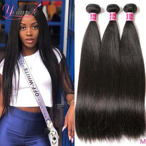 Brazilian Straight Human Hair Weaves Natural/Jet Black 1/3/4 Pcs