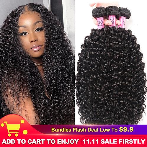 "UNice Hair 100% Curly Weave Human Hair Remy Hair 8-26"""