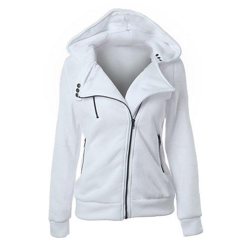 Zipper Warm Fashion Hoodies Women Long Sleeve