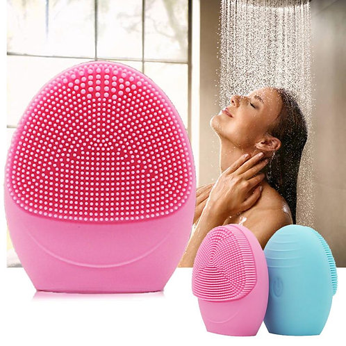 Electric Silica Gel Facial Cleanser Vibration Cleansing Instrument Cleansing