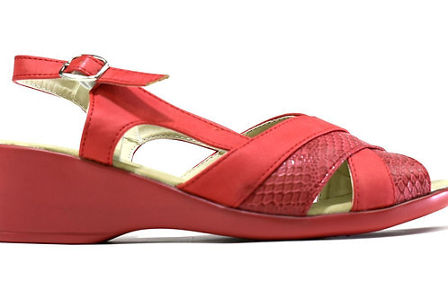 Low Wedge Dual Shaded Slingback Red