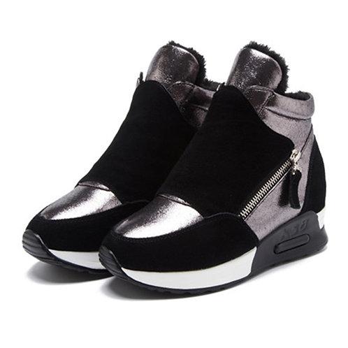 Winter Sneakers for Women Wedges Heels Height Increasing
