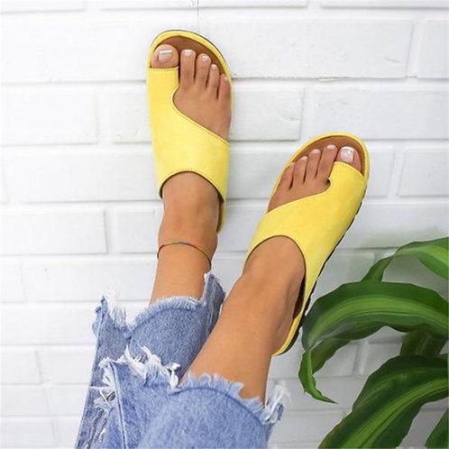 Puimentiua Women Slippers Flat Sole Casual Soft Big Toe Foot