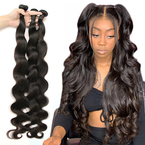 Fashow Body Wave 30 32 34 36 40 Peruvian Hair Bundles Thick