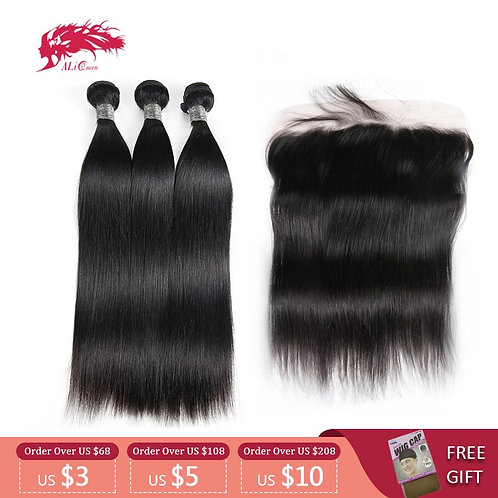 Ali Queen Hair Peruvian Remy Human Hair Weave Bundles With