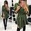Thumbnail: Wrap Spring Irregular Tie Waist Shirt Dress Women Dress Long