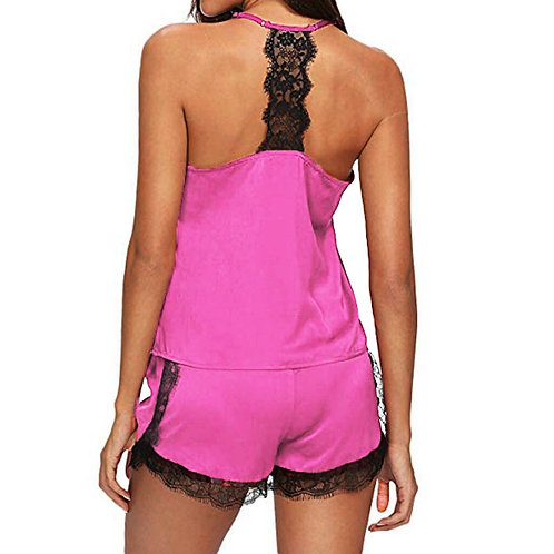 Jaycosin 2pc Women Sleepwear Sleeveless Strap Nightwea