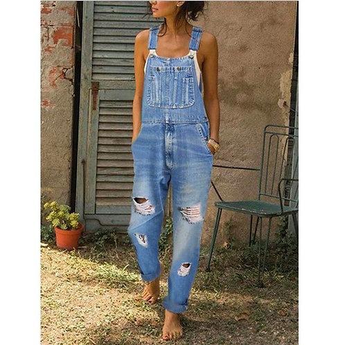 Spring Autumn New Overalls for Women Fashion Denim