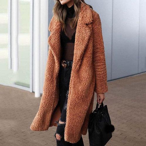 2020 Autumn Long Winter Coat Woman Faux Fur Coat Women