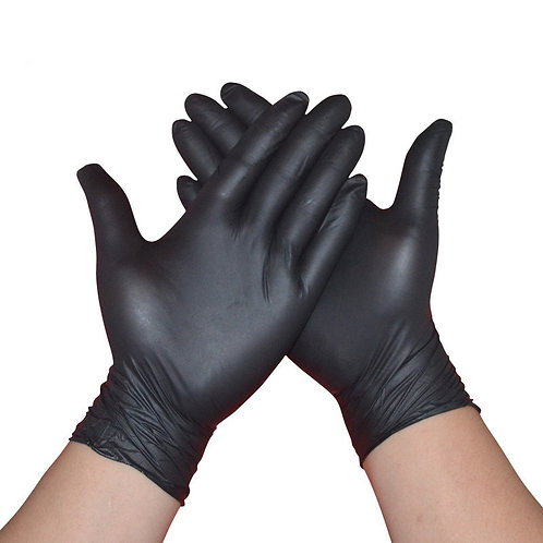 2/6/10/20Pcs Black Gloves Disposable Permanent Tattoo Gloves