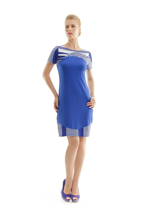 Print Detail Short Sleeved Dress