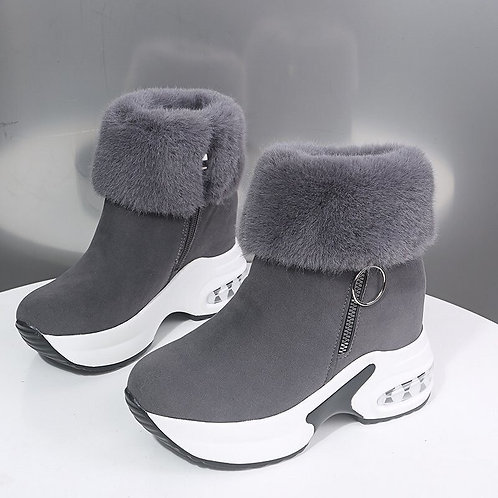 Women Ankle Boot Warm Plush Winter Shoes for Woman Boots