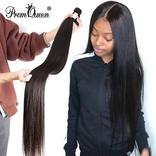 Promqueen Peruvian Human Hair Weave Bundles Straight 8-40inch