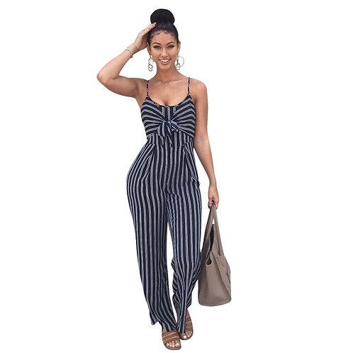 Elegant Striped Sexy Spaghetti Strap Rompers Womens
