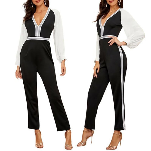 Office Tunic V-Neck Women Playsuit Comfortable