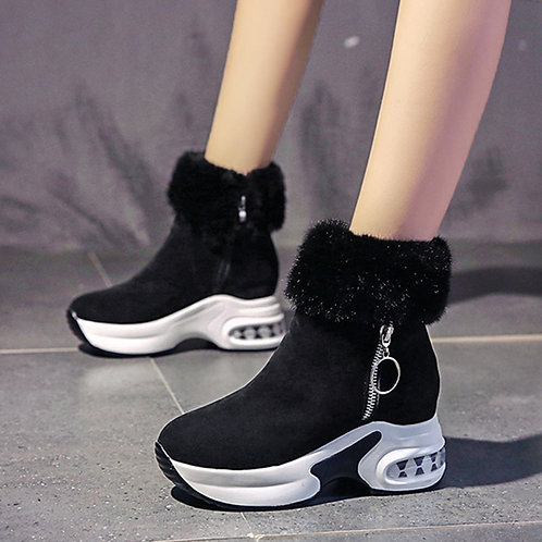 Women Ankle Boot Warm Plush Winter Shoes for Woman