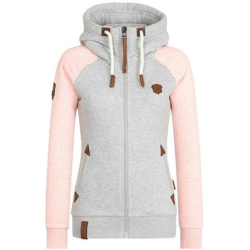 Raglan Sleeve Sweatshirt With Pocket Slim Fit Hoodies