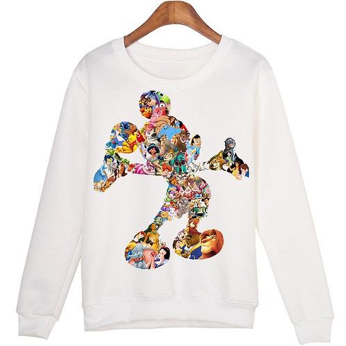 Harajuku Cartoon Printing Female Sweatshirt