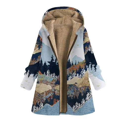 Vintage Coats for Women Mom Winter Warm Coats Zipper