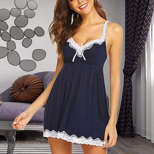 Hot Sale Nightgowns&Sleepshirts V-Neck Lace Homewear Set for Women