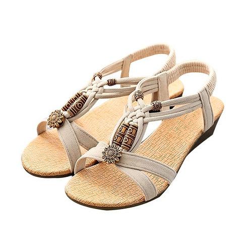 Roman Summer Sandals Women's Casual Peep-toe Flat