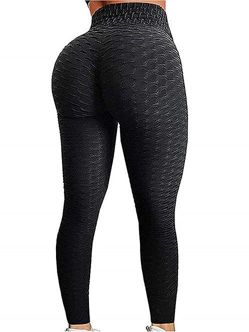 Legins Fitness High Waist Leggins Anti Cellulite Leggings Workout Sexy Black