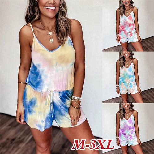 Fadzeco Summer Print Pajama Sets for Women Cotton