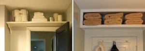 Small bathroom organization shelf hack