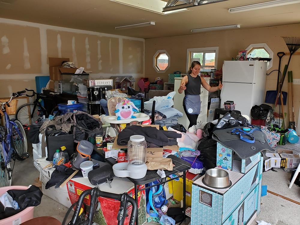 garage clutter and organization