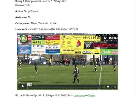 P1: article et vidéo Marloie-St léger
