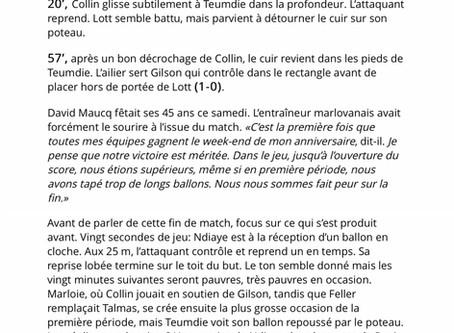 Presse 1a: Marloie 1 - 0 Arlon