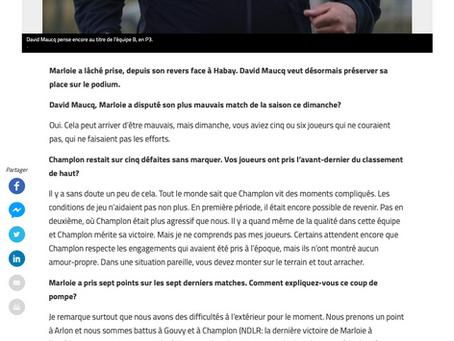 Interview de David Maucq