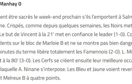 Marloie B 3 - 0 Harre