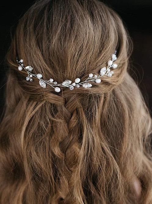 Pearl & Crystal Hair Vine