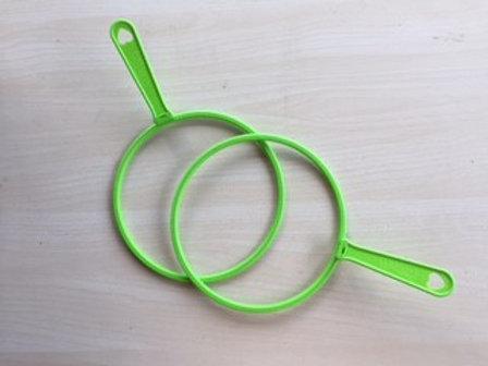 כלי ירוק גדול להפרחת בועות