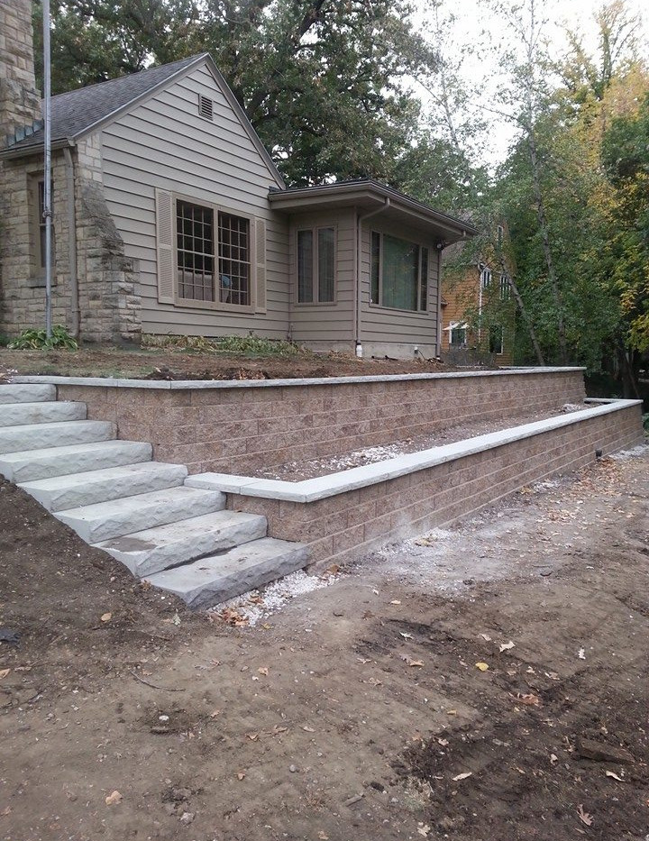 Tiered Planting Beds and Steps