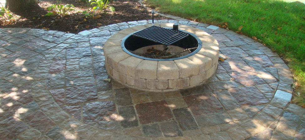 Firepit Kit with Grill Attachment
