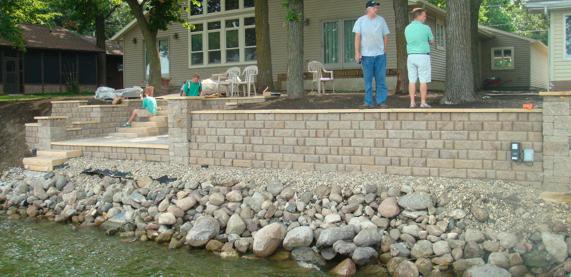 Retaining Wall for Lake Front